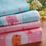 厂家供应 卡通幼儿园床品花色 婴童床品用全棉斜纹印花布