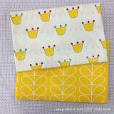 全棉斜纹印花布料 儿童床品面料 北欧宜家风DIY布料 无荧光
