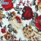 牡丹花型印花毛毯面料 现货供应260g全涤纶毛毯布料