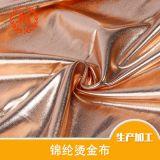 厂家专业生产锦纶烫金布 时装烫金布 锦纶哑光泳布 骑行服面料