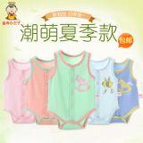 新款童装连身衣夏季纯棉三角哈衣 韩版背心婴儿连体衣厂家批发