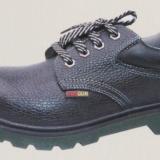 厂家直销铭固注塑PU底劳保鞋 真皮钢头钢底防护鞋透气休闲
