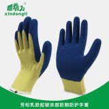新动力 芳纶乳胶起皱涂层防割防护手套