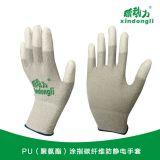 新动力 PU(聚氨酯)涂指碳纤维防静电手套
