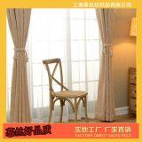 厂家直销加厚雪尼尔窗帘 酒店宾馆窗帘 现代简约纯色全遮光