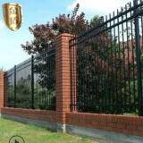 【围墙护栏】供应黑色围墙喷塑栏杆 厂区锌钢围栏 小区别墅区护栏