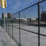 组装式篮球场围网 穿钢筋日子型球场围网 墨绿色足球场围网