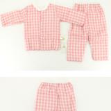 11纱布夹棉上衣裤拼色印花套装母婴用品纯棉长袖睡衣儿童空调衣服