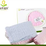 婴儿纯棉纱布浴巾宝宝盖毯裹被新生儿浴巾纱布10层加厚礼盒装