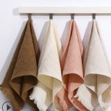 厂家直销纯棉纱布流苏毛巾 吸水时尚礼品洗脸巾 商超广告定制毛巾