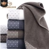 厂家批发点点丝带全棉毛巾男女情侣洗脸加厚舒适毛巾现货供应
