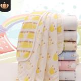 婴儿毛巾浴巾童被六层童被纯棉纱布毛巾被吸水儿童宝宝抱被盖毯