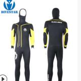 专业热销款7mm加绒带帽连体潜水衣前拉链长款冲浪衣半干式潜水服
