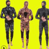 一件代发3mm潜水服迷彩潜水运动分体套装潜水衣渔猎服