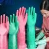 厂家直销防水家务清洁手套 防油厨房洗碗洗衣服家用橡胶手套