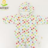 纱布夹棉上衣裤拼色印花套装母婴用品纯棉长袖睡衣儿童15空调衣服