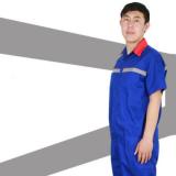中石化加油站工作服男女加气站工作服 加油站防静电工作服夏装