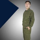 批发新款作训服 户外军绿色斜纹棉短袖休闲套装男 运动 劳保工装