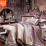 正品欧式全棉天丝莫代尔提花四件套纯棉贡缎床单婚庆六件套批发