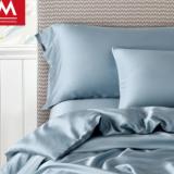 简约60支双面天丝四件套纯色夏季裸睡床单床笠定制被套1.8m床品