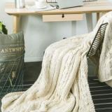 北欧针织盖毯 腈纶毯纯色午休毯空调毯 简约休闲毯子沙发盖毯床品