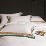 五星级酒店四件套全棉纯棉简约纯色1.8m床单被套双人宾馆床上用品