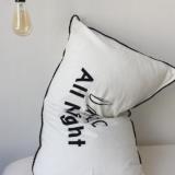 北欧简约全棉水洗棉枕套单人英文字母纯棉枕套一对拍48*74cm