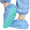 防静电鞋套无尘鞋套室内防滑底胶底工作脚套可水洗导电条防尘鞋套