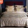 80贡缎海岛棉丝滑裸睡床上用品全棉四件套1.8m刺绣纯棉被套家纺