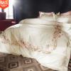 埃及棉100支500T别墅高端样板房刺绣纯棉床上用品全棉四件套批发