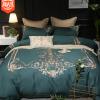 批发全棉纯棉大气欧式美式刺绣床单被套家纺1.8m床双人厂家直销