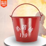 消防桶 红色铁皮消防桶 黄沙桶 批发
