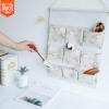 新款韩版创意杂物收纳袋悬挂式多层棉麻挂兜浴室杂物家居储物挂袋
