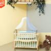 厂家直销 实木无漆新生婴儿床宝宝床带蚊帐摇篮可移动多功能床