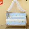 多功能实木婴儿床宝宝床带滚轮儿童摇篮床小童床带蚊帐五件套