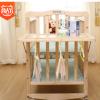 婴儿床实木bb多功能床摇篮储物儿童双层拼接大床