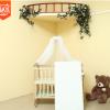 厂家供应婴儿床实木婴儿摇篮床双层宝宝床新生儿床送蚊帐