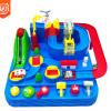 三只车儿童轨道闯关汽车大冒险轨道车玩具组合惯性火车停车场玩具
