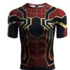 厂家直销复仇者联盟3 蜘蛛侠健身服运动服短袖 定制贴牌现货代发