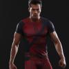 厂家直销复仇者联盟3 死侍健身服运动服短袖 定制贴牌现货代发