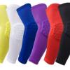 厂家直销 莱卡蜂窝护肘加长防撞高弹力篮球护臂 专业运动护具批发