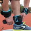 绑腿负重沙袋运动跑步训练健身装备隐形可调铁砂绑手绑脚沙包调节