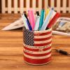 批发欧式时尚可爱美式复古笔筒办公学生文具铅笔多功能桌面收纳盒