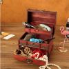 仿古带锁首饰盒 节日礼品送闺蜜 木质古典首饰收纳 杂物收纳盒
