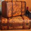 手工做旧复古欧式手提箱 收纳箱 木箱子拍摄道具家庭收纳厂家直销