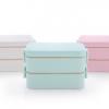 麦秆饭盒 双层密封防漏午餐盒800ml 塑料微波炉便当盒 批发定制