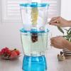 冷水壶塑料大容量加厚耐热果汁花茶壶双层啤酒扎壶凉水壶带水龙头