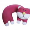 厂家直销泡沫粒子填充动物造型汽车内用U形枕头,可做贴牌加工