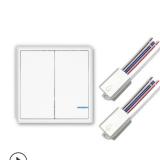 厂家批发无线智能遥控开关 开关到灯具免布线双控墙壁遥控开关
