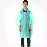 高品质CPE防雨雨披 一次性防雨工具套头连体雨衣产地货源徒步雨披